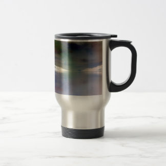 Trendy, Alien Inverted Horizon Water Reflection Travel Mug