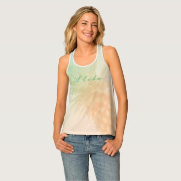 Trendy Aloha Pineapple Personalized Tank Top