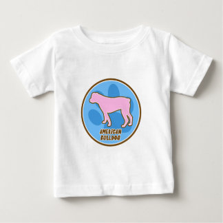 Trendy American Bulldog Baby TShirt