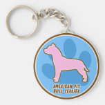 Trendy American Pit Bull Terrier Keychain