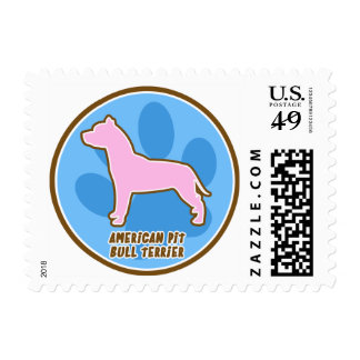 Trendy American Pit Bull Terrier Postage Stamp