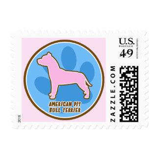 Trendy American Pit Bull Terrier Stamp