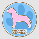 Trendy American Pit Bull Terrier Stickers