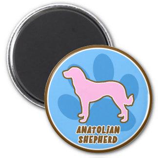 Trendy Anatolian Shepherd 2 Inch Round Magnet