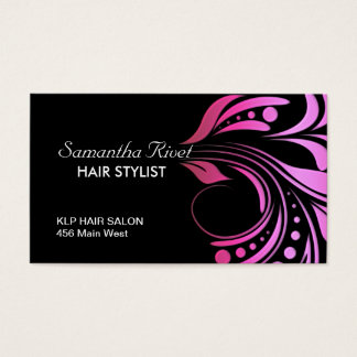 Trendy and Bold Hair Stylist Business Card