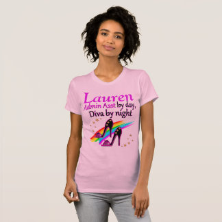 TRENDY AND CHIC ADMIN ASST PERSONALIZED T SHIRT
