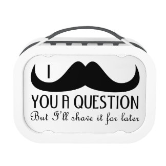 Trendy and cool I mustache you a question Lunch Box