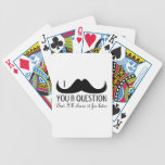 Trendy and cool I mustache you a question Card Deck