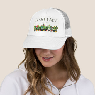Trendy and Funny Plant Lady with Cactus Trucker Hat