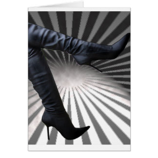 Trendy and Modern Boot Art Card