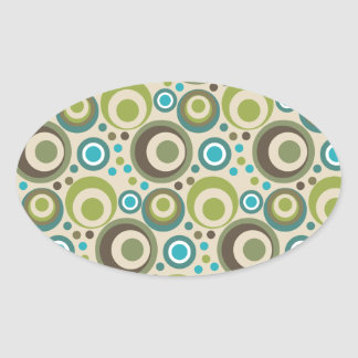 Trendy and Modern Circle Pattern Oval Sticker