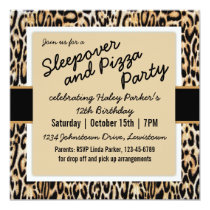 Trendy Animal Print Tween/Teen Birthday Party Invitation