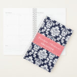 "Trendy &quot;Any Color&quot; Chic Floral Damask Planner<br><div class=""desc"">Keep all those important dates written down in style with this trendy pastel flowers chic floral planner.</div>"