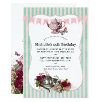 Trendy Any Event Alice In Wonderland Tea Party Invitation