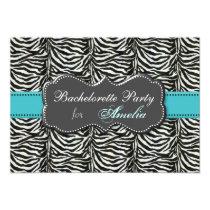 trendy aqua Bachelorette Party Invitations