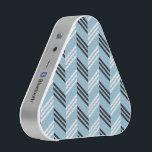 "Trendy Aqua Blue Zigzag Geometric Pattern Speaker<br><div class=""desc"">A stylish, modern and trendy geometric pattern with zigzag chevron stripes in aqua blue, black and white colors.</div>"