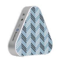 Trendy Aqua Blue Zigzag Geometric Pattern Speaker