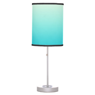 Trendy Aqua Teal to Vintage White Ombre Gradient Table Lamp