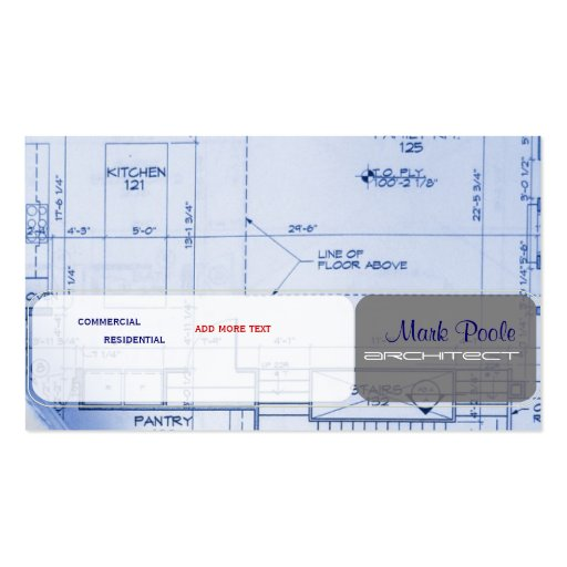 Trendy Architect business cards