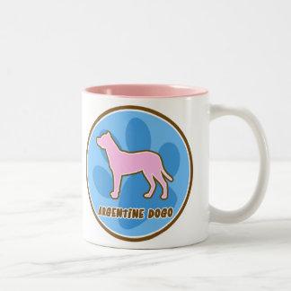 Trendy Argentine Dogo Two-Tone Coffee Mug