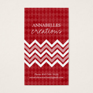 Trendy Argyle and Chevron Business Cards