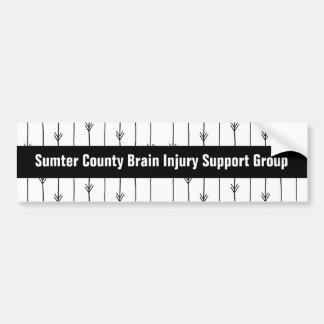 Trendy Arrows Custom Brain Injury Support Group Bumper Sticker