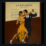 """Trendy Art Deco vintage dancers Poster<br><div class=""""desc"""">1. Often the designs featured here can be used for a variety occasions,  simply edit or add text /photos to suit your needs. _______________________________________________________________________   2.  If you require assistance personalizing your item,  ,  desire matching partyware or a custom item contact the designer LeahG via the tab below.</div>"""