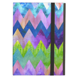Trendy Artsy Watercolor Painting Chevron Pattern iPad Air Case