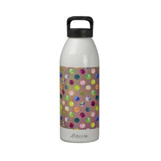 Trendy Artsy Watercolor Painting Polka Dot Pattern Water Bottles
