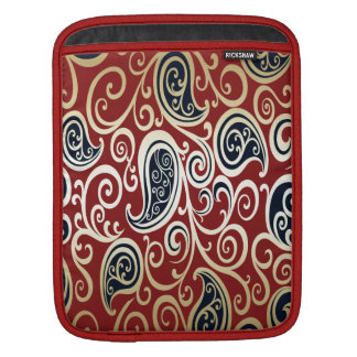Trendy attractive vintage floral black/red sleeve for iPads