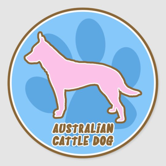 Trendy Australian Cattle Dog Stickers