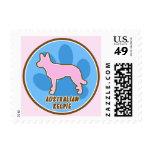 Trendy Australian Kelpie Postage Stamps