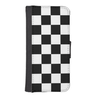 Trendy Auto Racing Plaid Chequered Checkered Flag iPhone 5 Wallet Cases