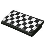 Trendy Auto Racing Plaid Chequered Checkered Flag Leather Wallets