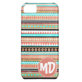 Trendy aztec custom monogram iPhone 5C case