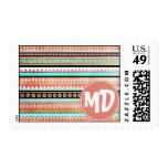 Trendy aztec custom monogram stamp