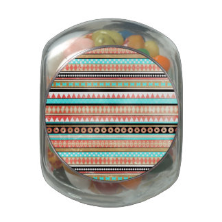 Trendy aztec glass jar