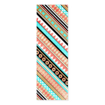 aztec, trendy, cute, illustration, vintage, funny, modern, geometric, abstract, business card, pattern, tribal, chevron, teal, coral, mayan, business, card, Business Card with custom graphic design