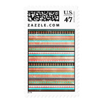 aztec, trendy, cute, illustration, vintage, funny, stamp, abstract, girly, tribal, modern, pattern, mayan, postage, Stamp with custom graphic design