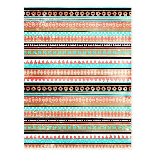 Trendy aztec postcard