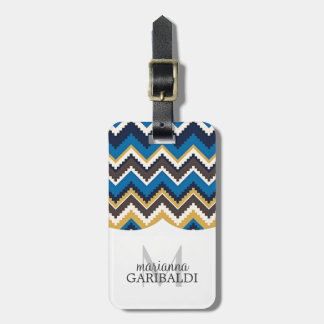 Trendy Aztec Print  Personalized Travel Bag Tags