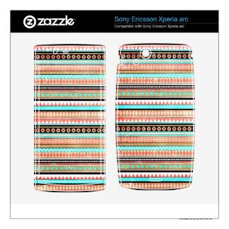 Trendy aztec xperia arc skin