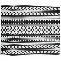 Trendy Aztec Tribal Print Geometric Pattern(Black) Binder