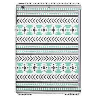 Trendy Aztec Tribal Print Geometric Pattern Green Case For iPad Air