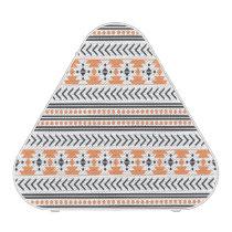 Trendy Aztec Tribal Print Geometric Pattern|Orange Speaker