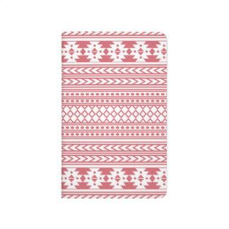 Trendy Aztec Tribal Print Geometric Pattern(Pink) Journal
