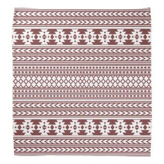 Trendy Aztec Tribal Print Geometric Pattern(Red) Bandana