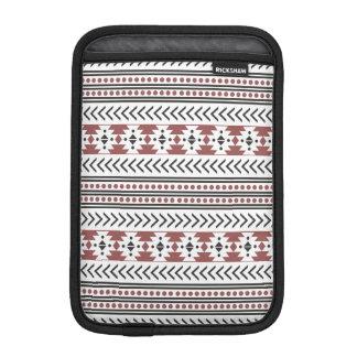 Trendy Aztec Tribal Print Geometric Pattern Red iPad Mini Sleeve