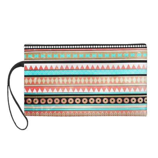 Trendy aztec wristlet purse