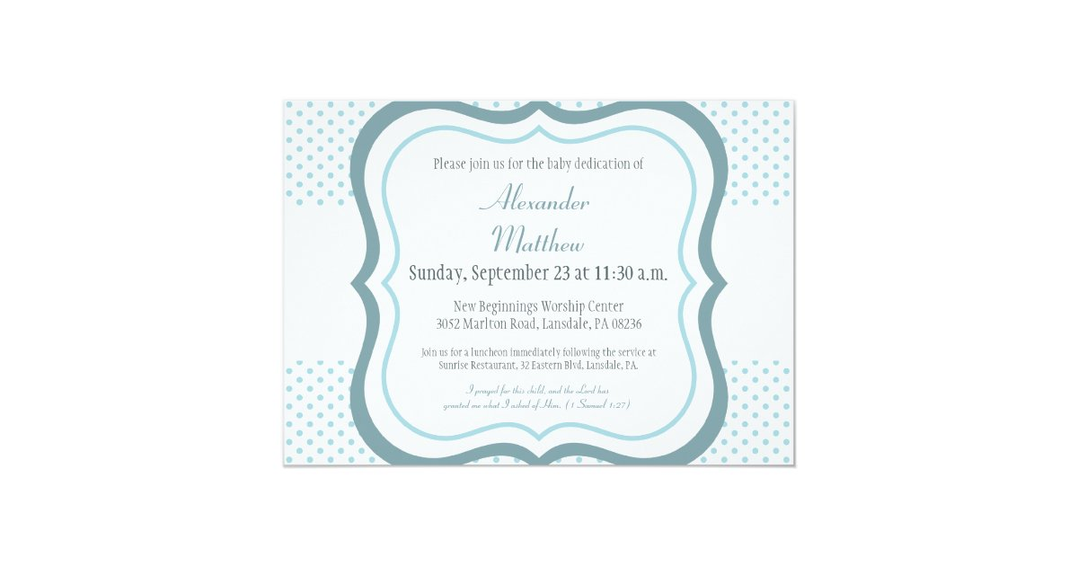 Trendy Baby Dedication Christening Invitation | Zazzle.com